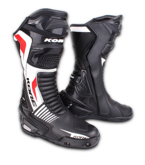 Boty na motorku Kore Sport černo-bílo-červené  9059fec997