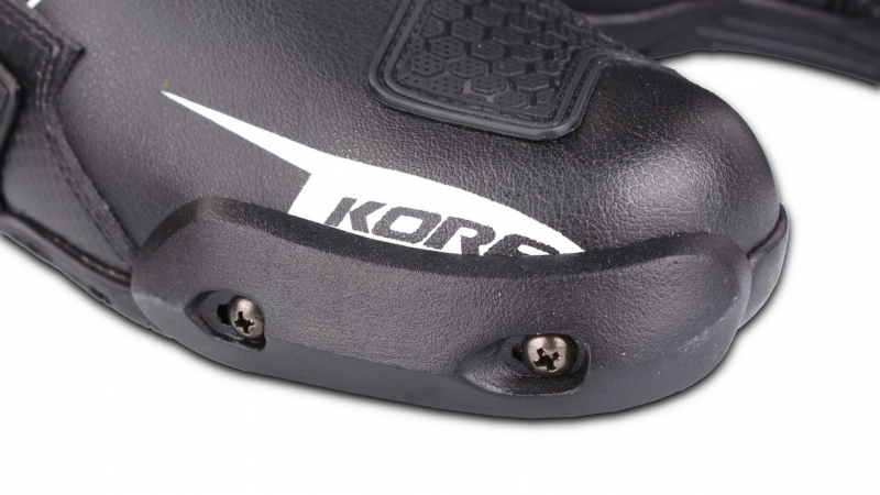... Boty na motorku Kore Sport černo-bílo-červené ... 18fb7a2d56