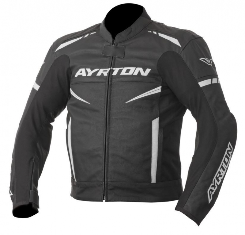 Bunda na motorku Ayrton Raptor černo-bílá  56c7756071b