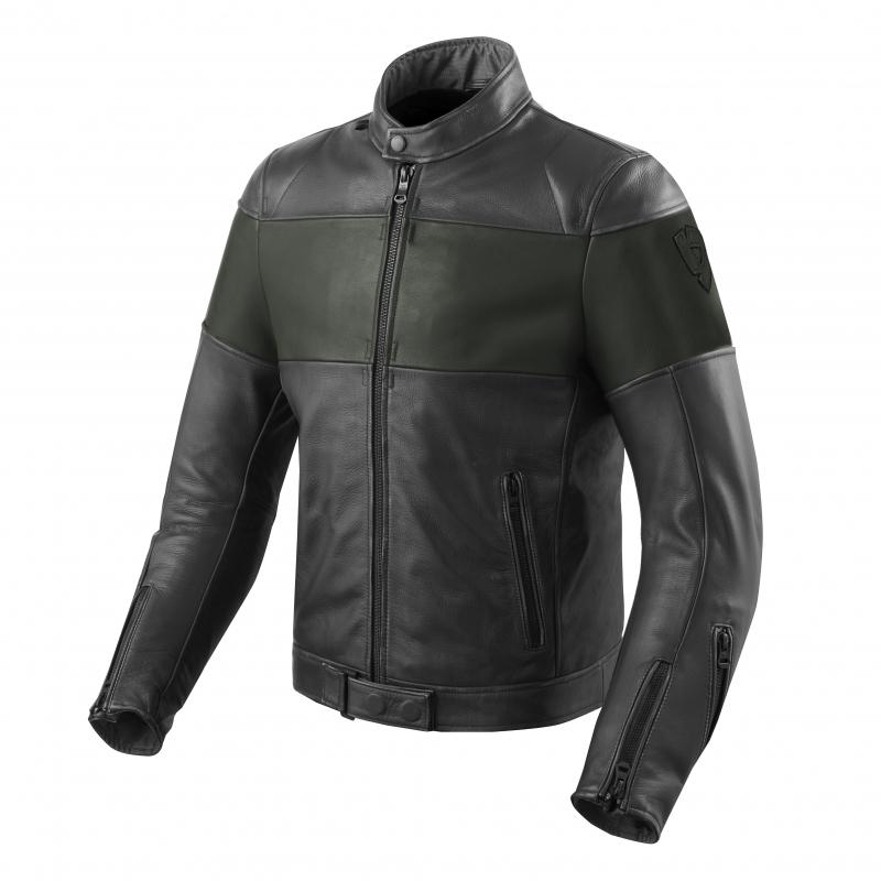 Bunda na motorku Revit Nova Vintage černo-tmavě zelená ... 79fe573ec8