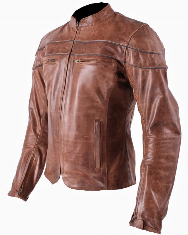 Dámská kožená bunda na motorku RSA Old Style výprodej  bf8e0d3e0f4