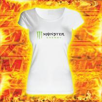 5873067a155 Dámské triko s motivem Monster bílé výprodej