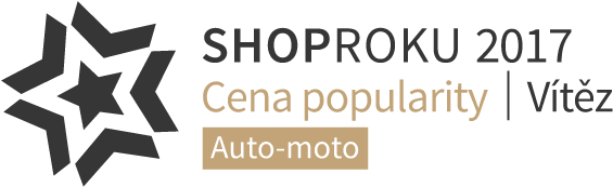 0559d6129e79 Vítěz ceny popularity v soutěži Shop roku 2017 v kategorii Auto-moto