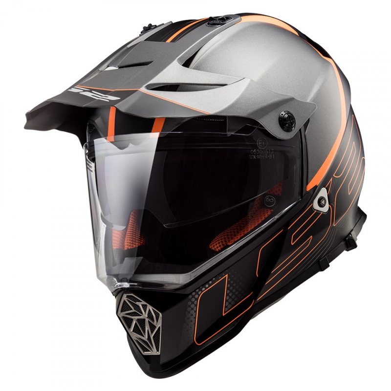 official shop low priced low price sale Enduro přilba LS2 MX436 Pioneer Element černá matná   Motozem.cz