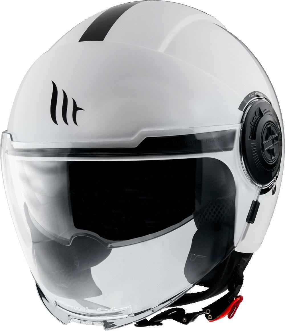 Otevřená přilba na motorku MT Viale bílá lesklá