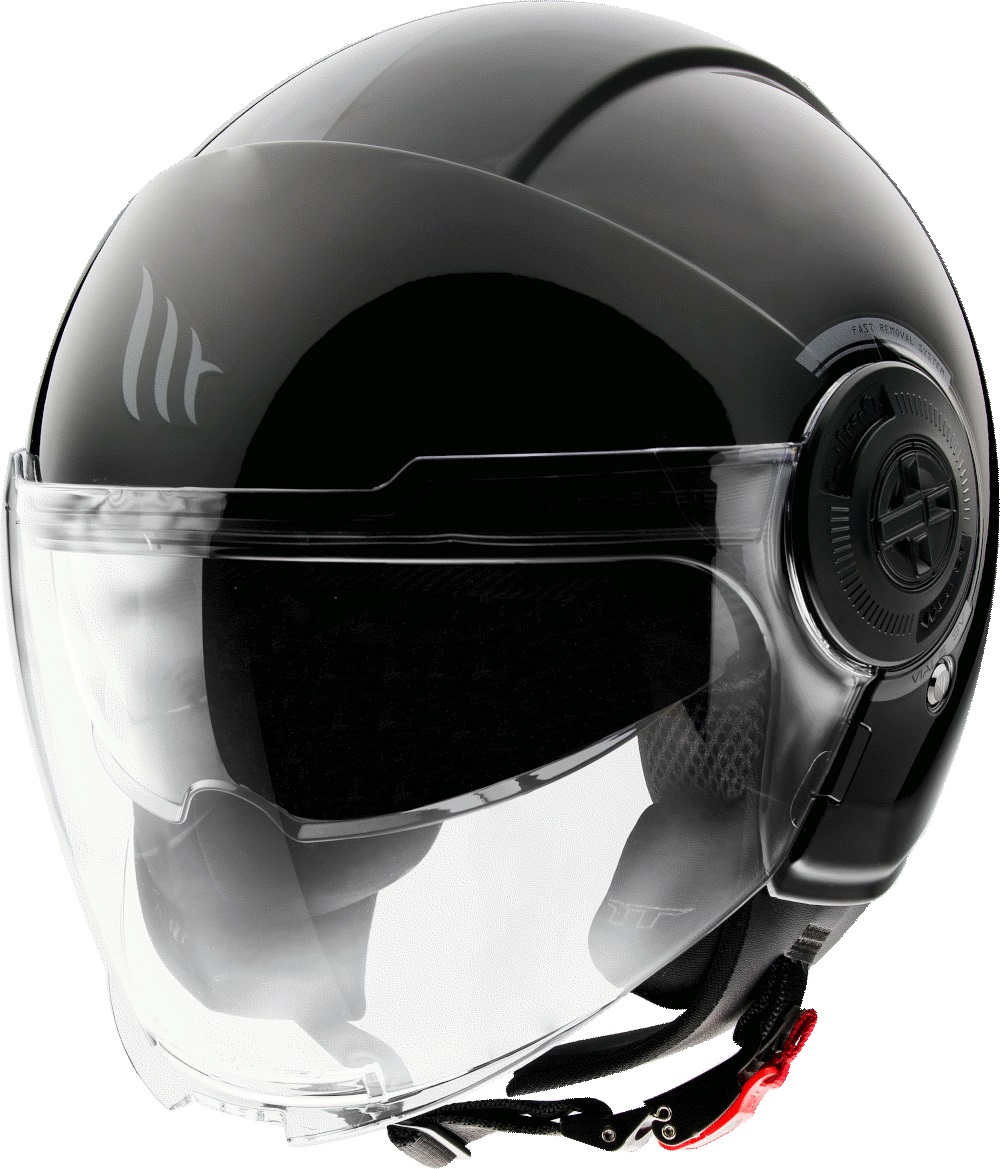 Otevřená přilba na motorku MT Viale černá lesklá