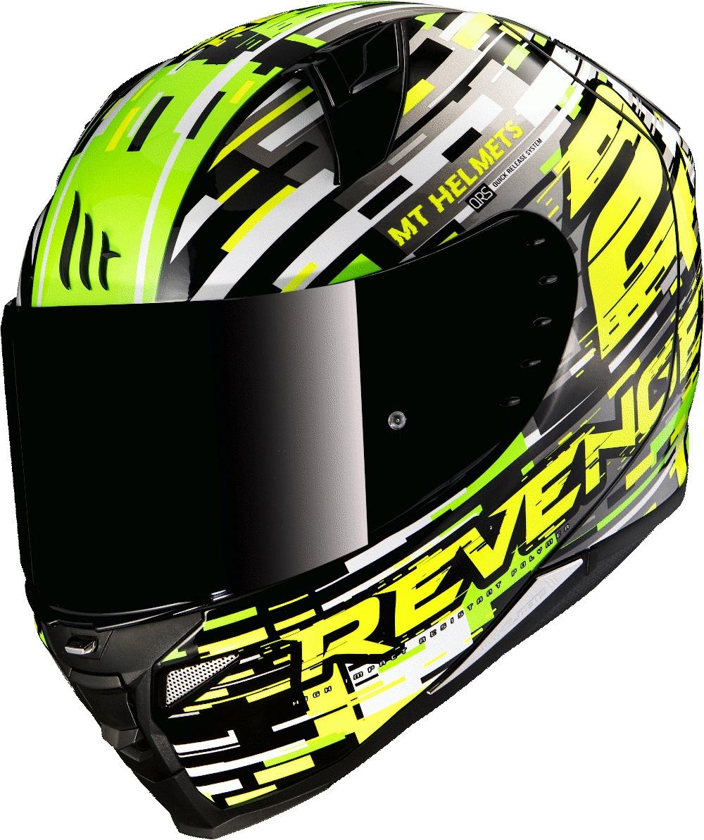 Integrální přilba na motorku MT Revenge 2 Baye zeleno-fluo žlutá