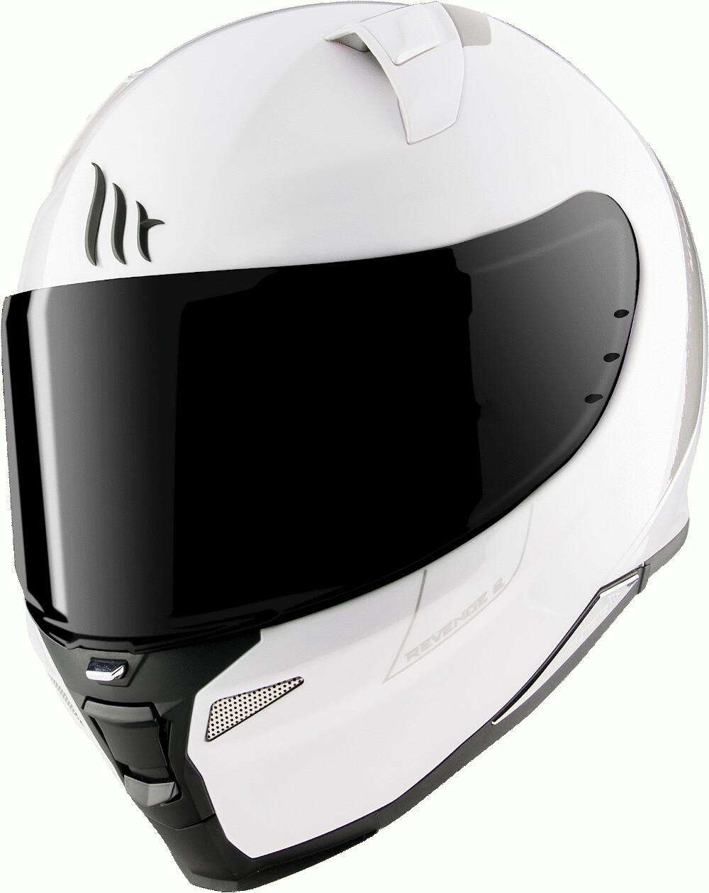 Integrální přilba na motorku MT Revenge 2 Solid bílá lesklá