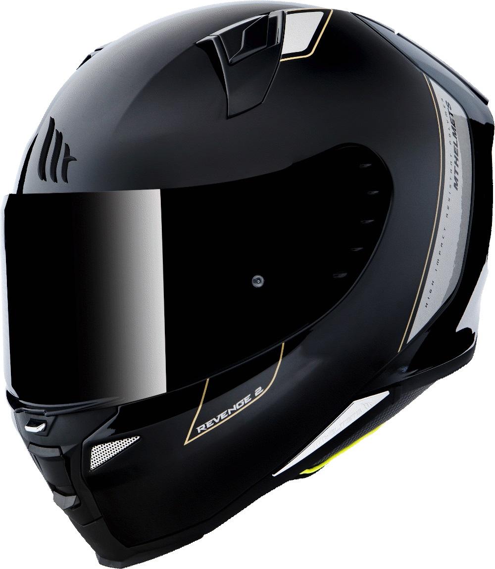 Integrální přilba na motorku MT Revenge 2 Solid černá lesklá