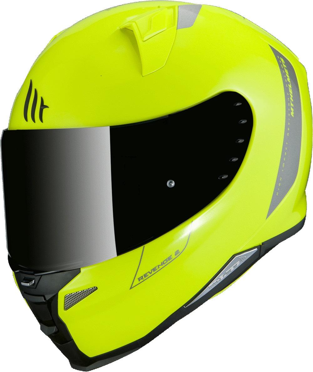 Integrální přilba na motorku MT Revenge 2 Solid fluo žlutá