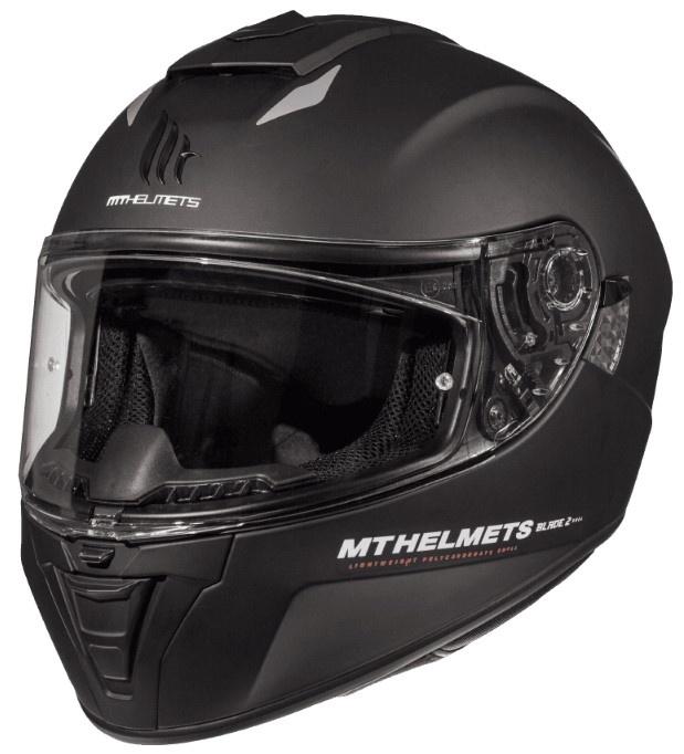 Integrální přilba na motorku MT Blade 2 SV Solid černá matná - II. jakost