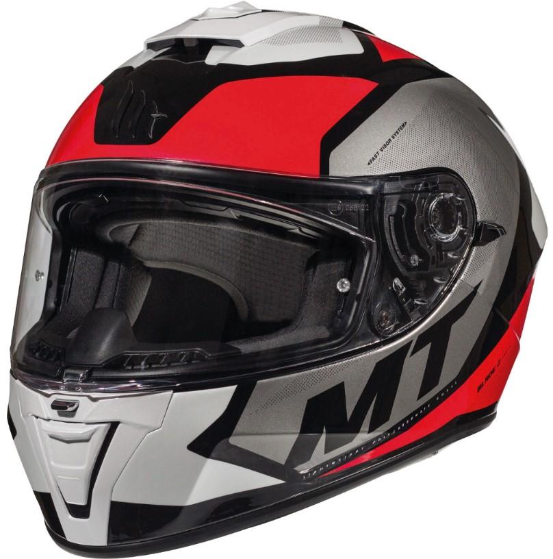 Integrální přilba na motorku MT Blade 2 SV Trick černo-šedo-červená - II. jakost