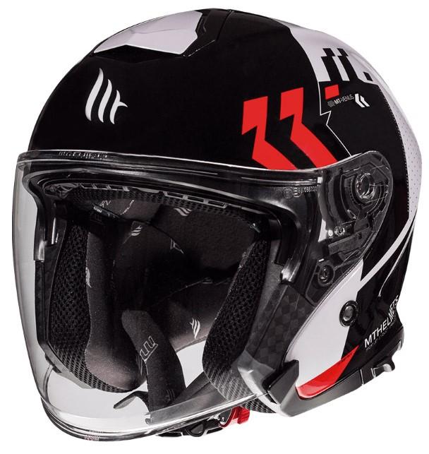 Otevřená přilba na motorku MT Thunder 3 SV Venus černo-bílo-červená - II. jakost