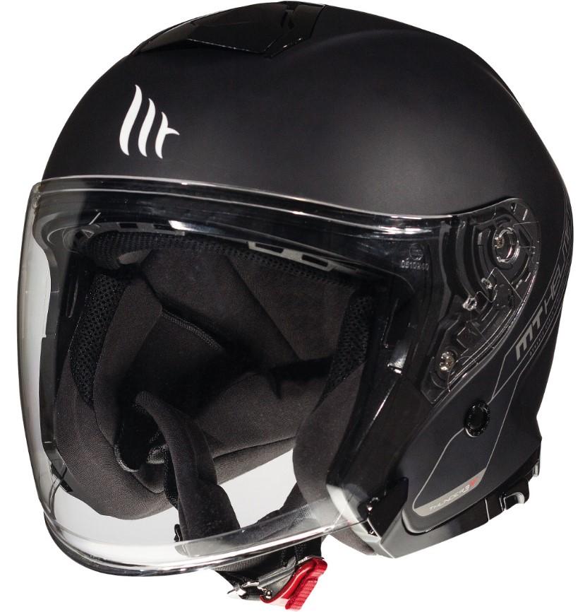 Otevřená přilba na motorku MT Thunder 3 SV Solid černá matná - II. jakost