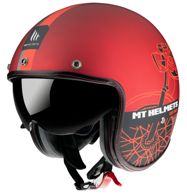 Otevřená přilba MT LeMans OF507SV LeMans 2 SV Cafe Racer červená