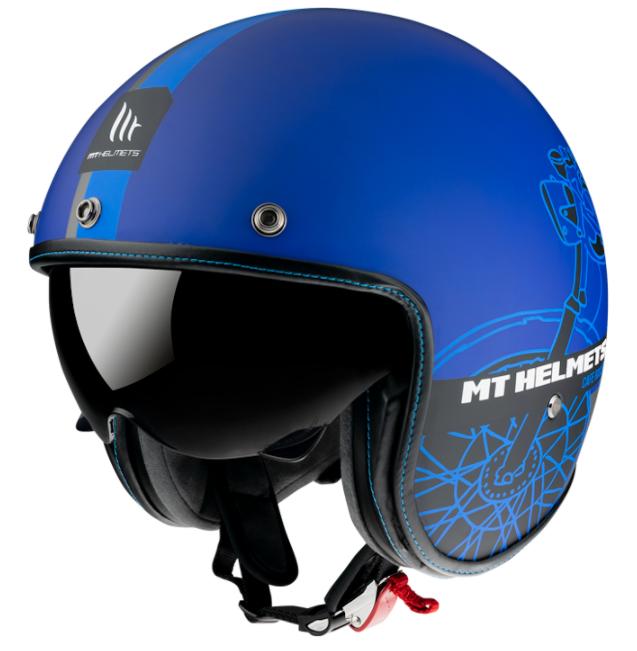 Otevřená přilba MT LeMans OF507SV LeMans 2 SV Cafe Racer modrá