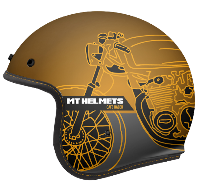 Otevřená přilba MT LeMans OF507SV LeMans 2 SV Cafe Racer zlatá