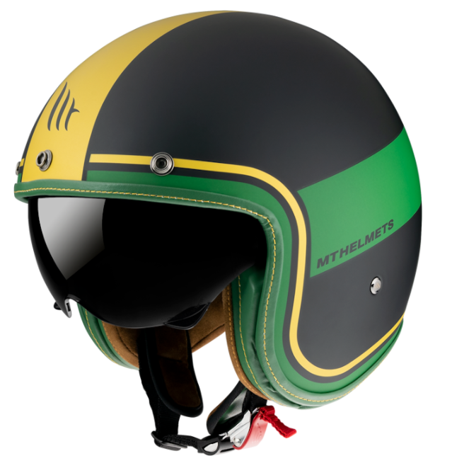 Otevřená přilba MT LeMans 2 SV Tant černo-žluto-zelená