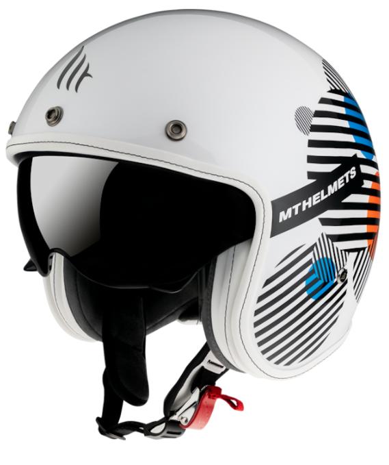 Otevřená přilba MT LeMans 2 SV Zero bílá