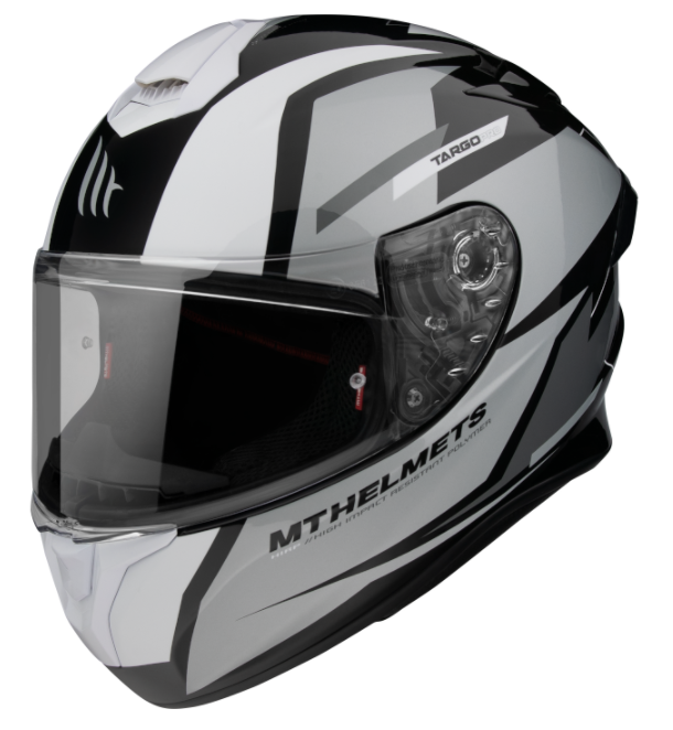 Integrální přilba na motorku MT FF106 Pro Targo Pro Sound černo-bílo-šedá