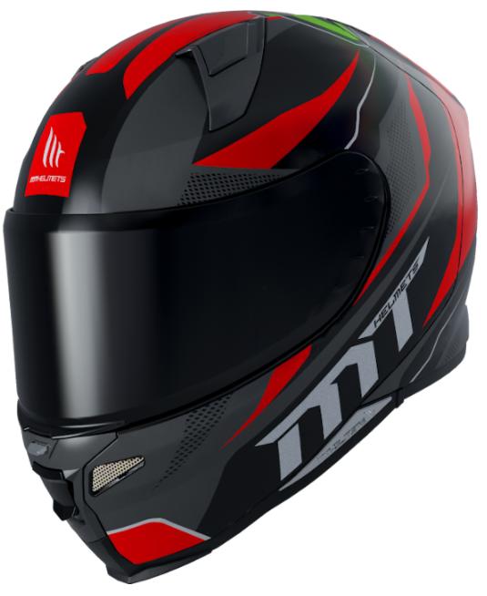 Integrální přilba na motorku MT Revenge 2 Foundation černo-šedo-červená