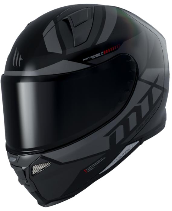 Integrální přilba na motorku MT Revenge 2 Scalpel černo-šedá