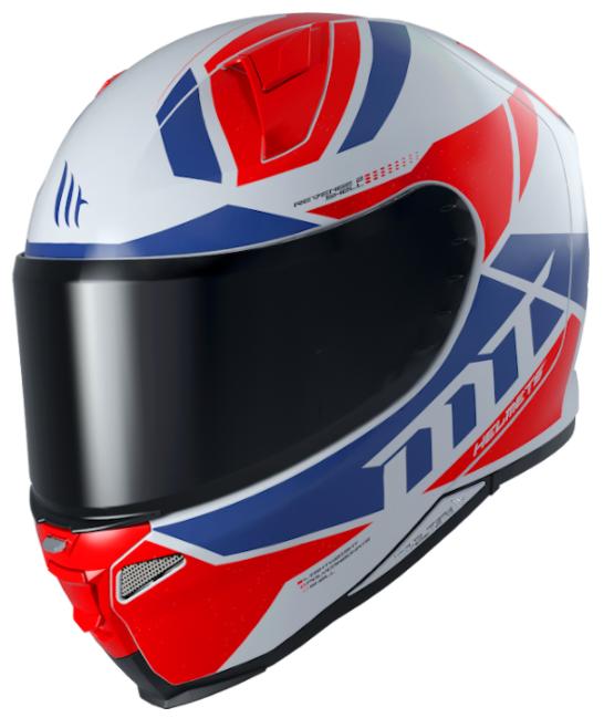 Integrální přilba na motorku MT Revenge 2 Scalpel modro-bílo-červená