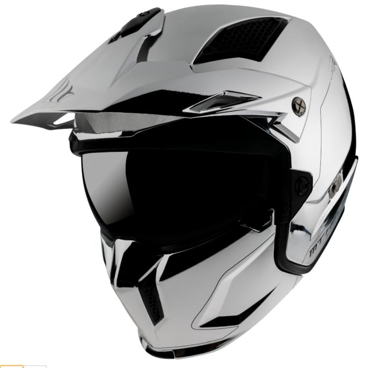 Přilba na motorku MT Streetfighter SV Chromed stříbrná