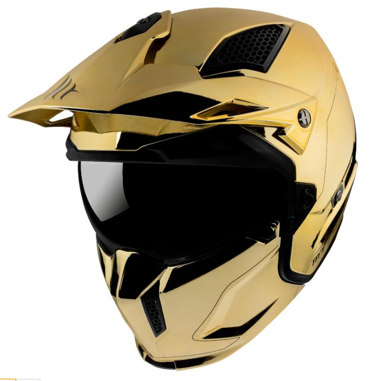 Přilba na motorku MT Streetfighter SV Chromed zlatá