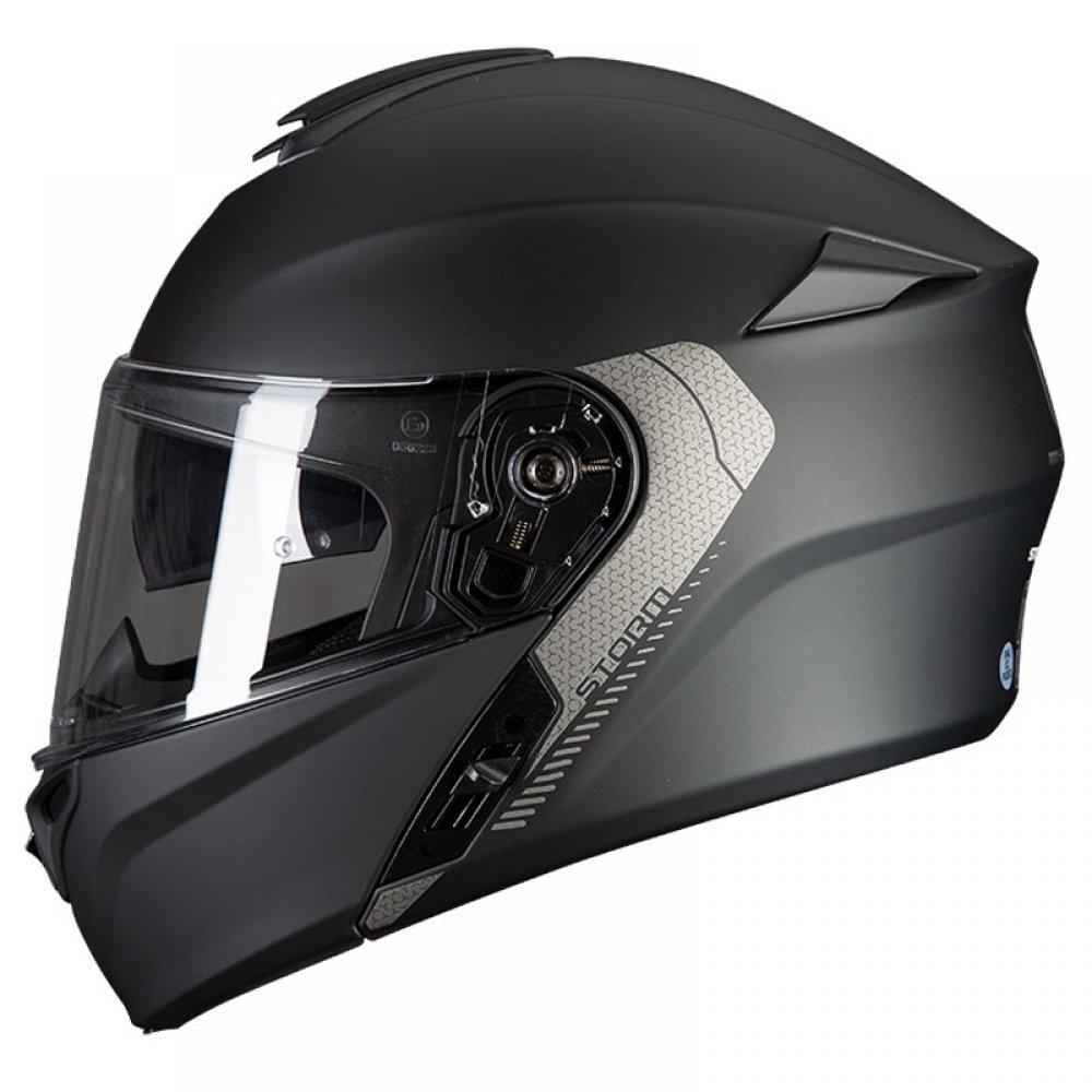 Vyklápěcí přilba na motorku MT Storm černá