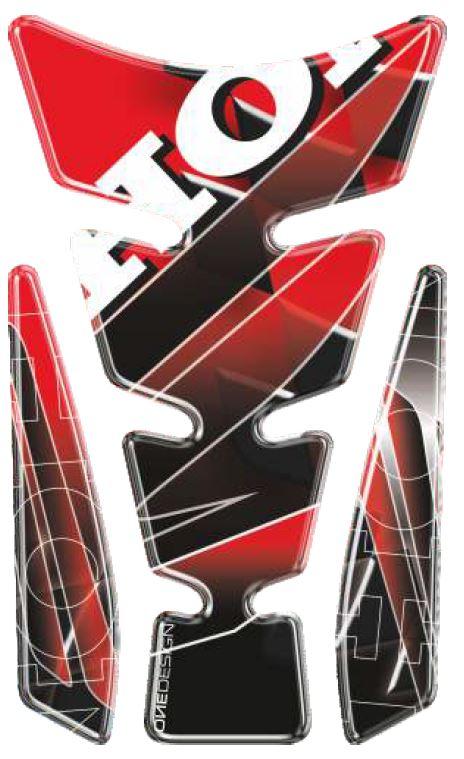 Polep palivové nádrže Print - Spirit LE 3 červený