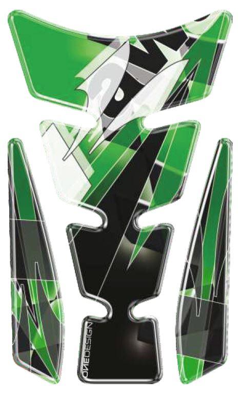 Polep palivové nádrže Print - Spirit LE 5 zelený