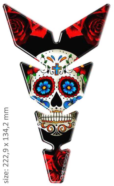 Polep palivové nádrže Print - MOON Slim Mexican Tatoo