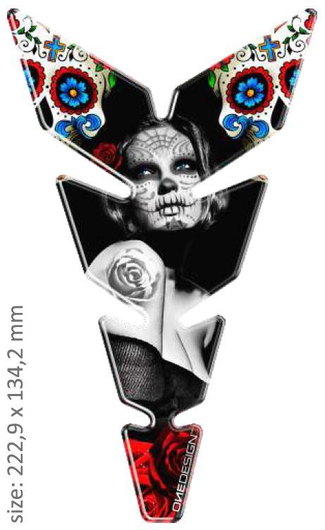 Polep palivové nádrže Print - MOON Slim Mexican Tatoo 2