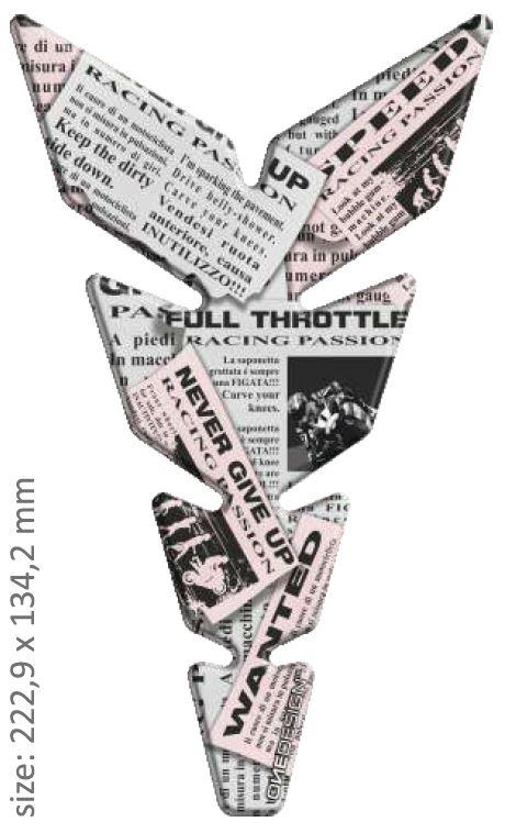 Polep palivové nádrže Print - Anniversary paper