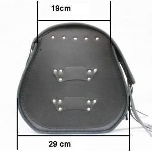 Kožený moto kufr na motorku Chopper RSA-9C - délka 48