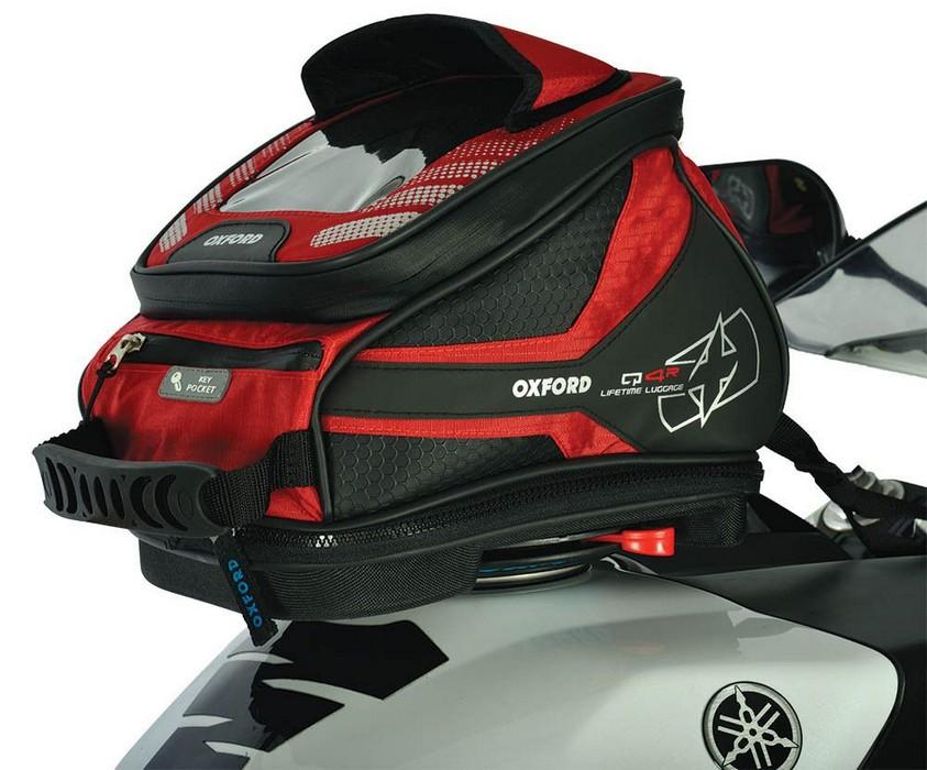 Tankbag na motocykl Oxford Q4R QR-červený