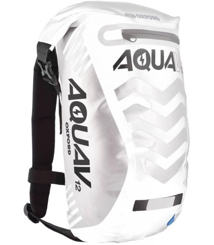 Vodotěsný batoh Oxford Aqua V12 Extreme Visibility bílo/šedý