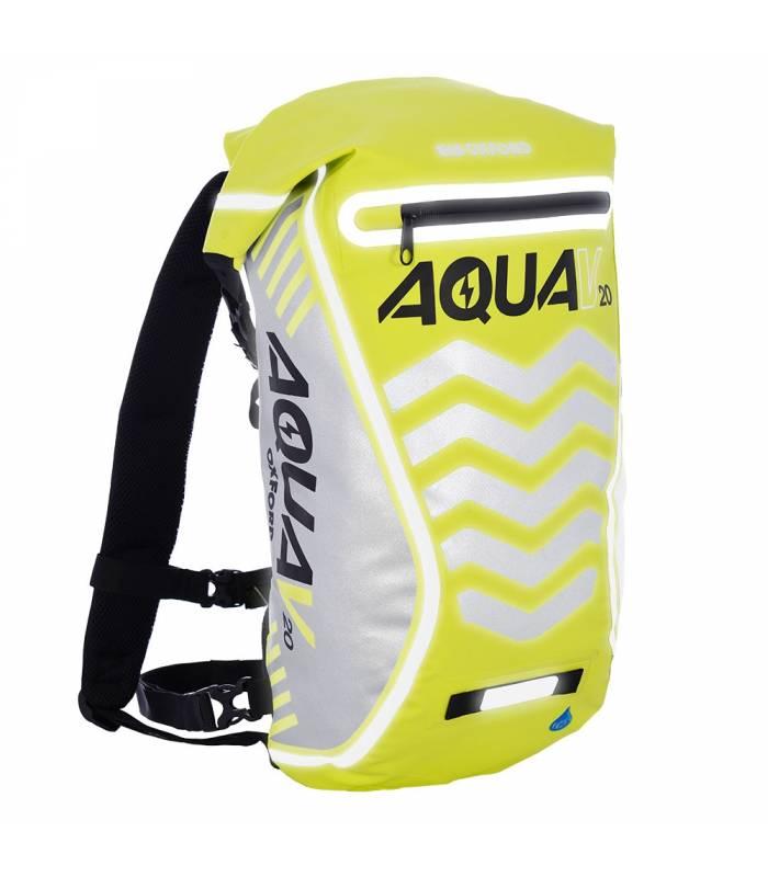 Vodotěsný batoh Oxford Aqua V12 Extreme Visibility žlutý
