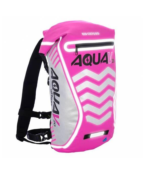 Vodotěsný batoh Oxford Aqua V20 Extreme Visibility růžový