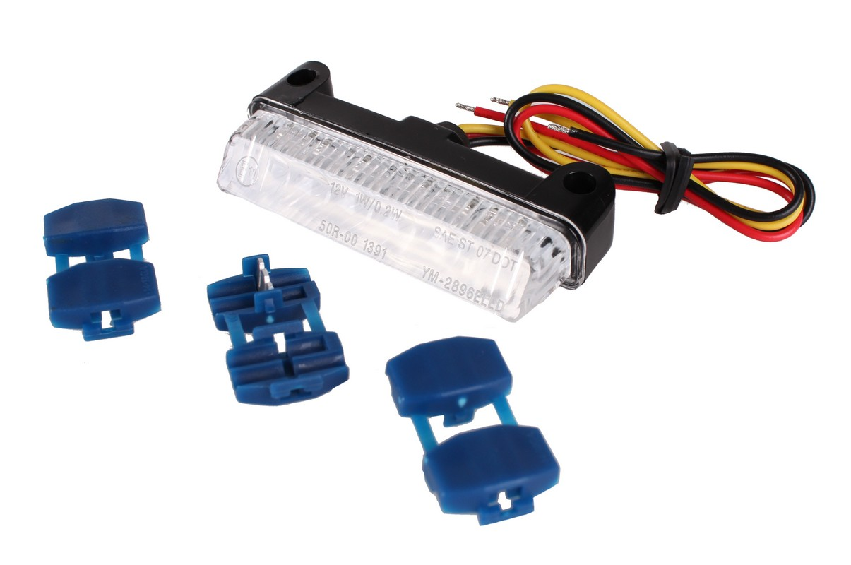 LED koncové zadní světlo R-TECH s čirým sklem