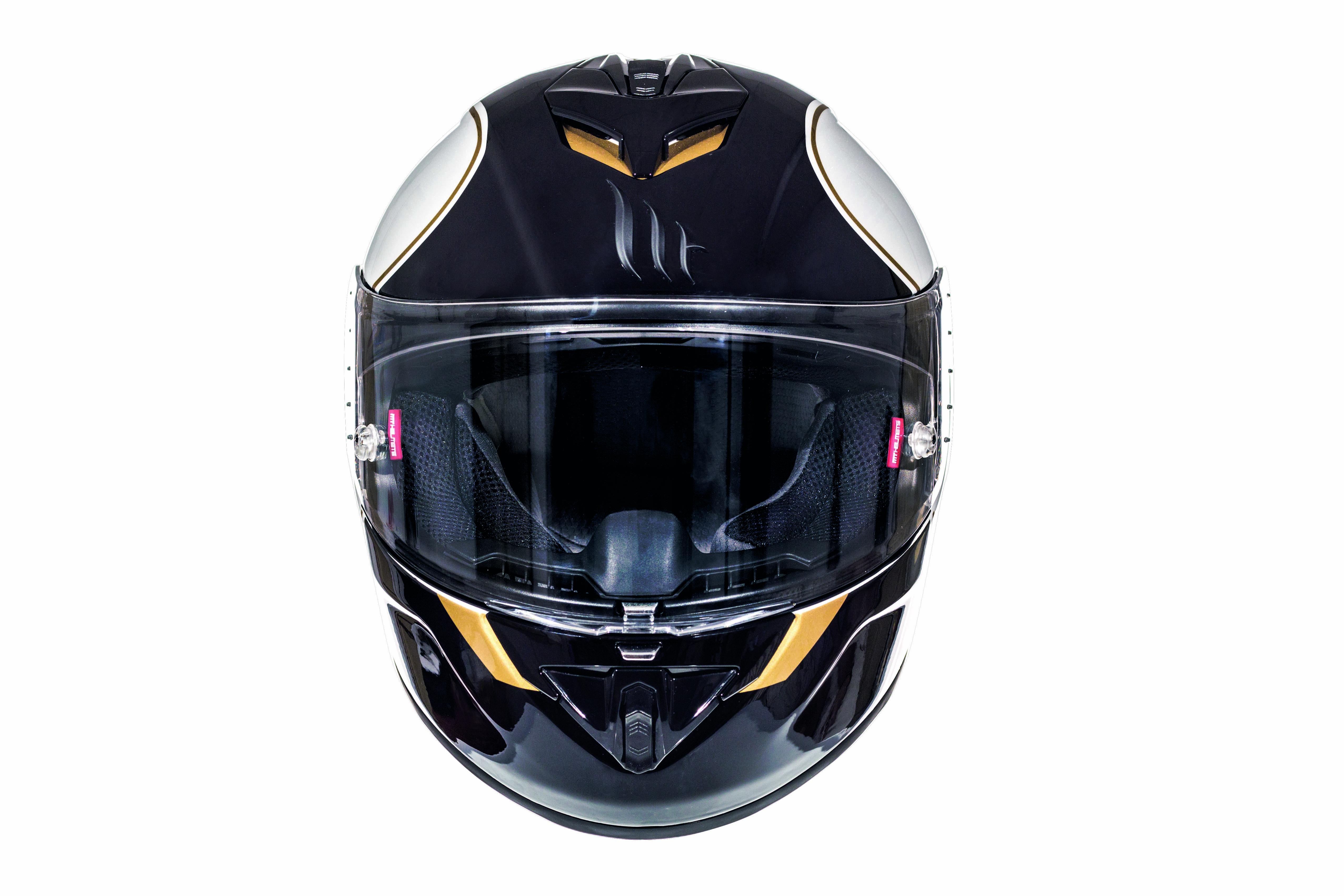 Integrální přilba na motorku MT Rapide Revival černo-bílá