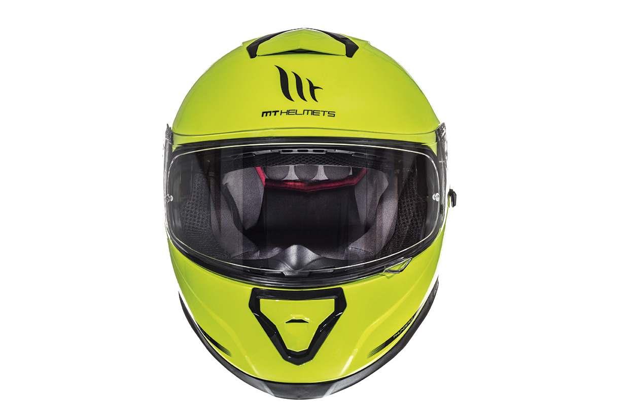 Integrální přilba na motorku MT Thunder 3 SV fluo žlutá