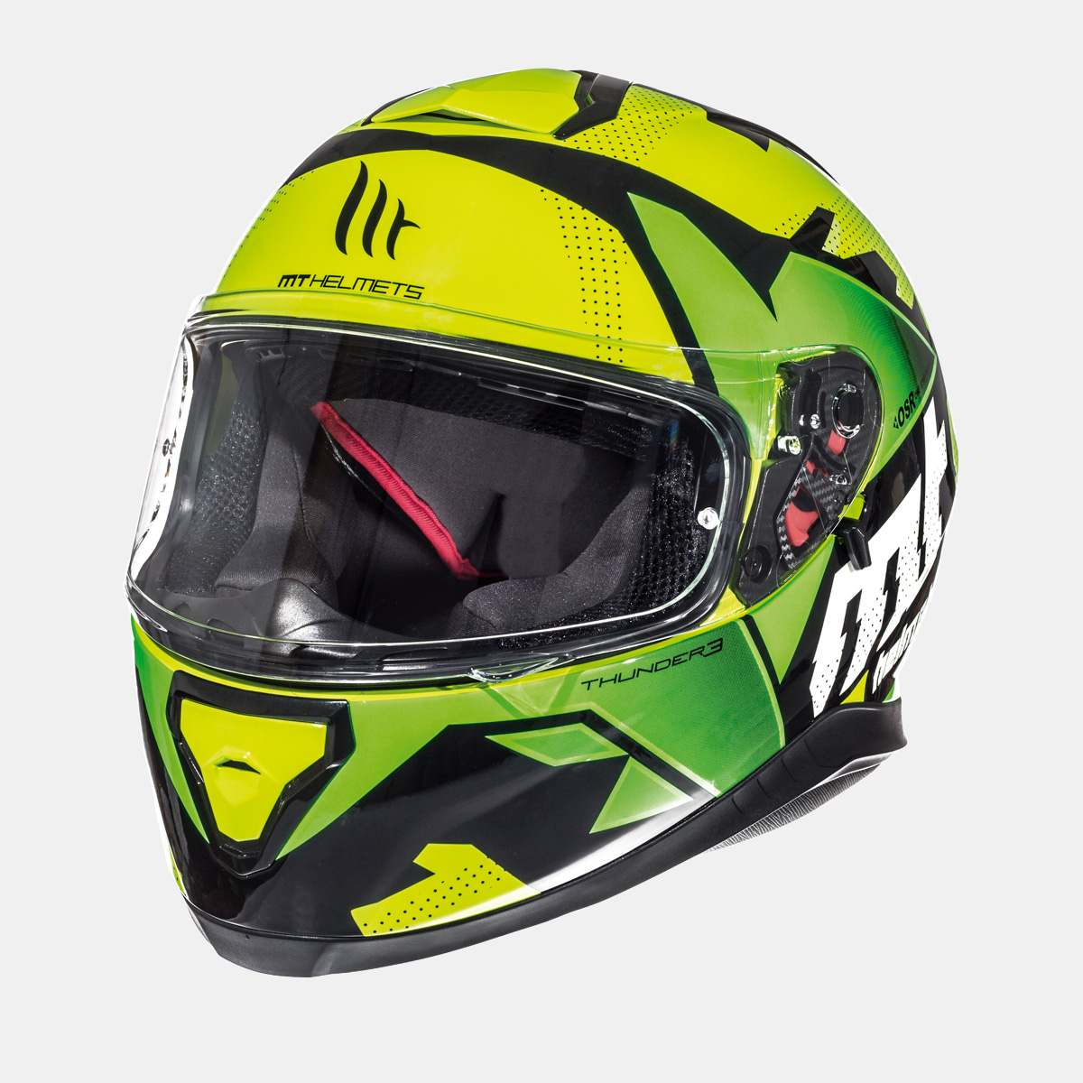 Integrální přilba na motorku MT Thunder 3 SV Torn fluo žluto-zelená