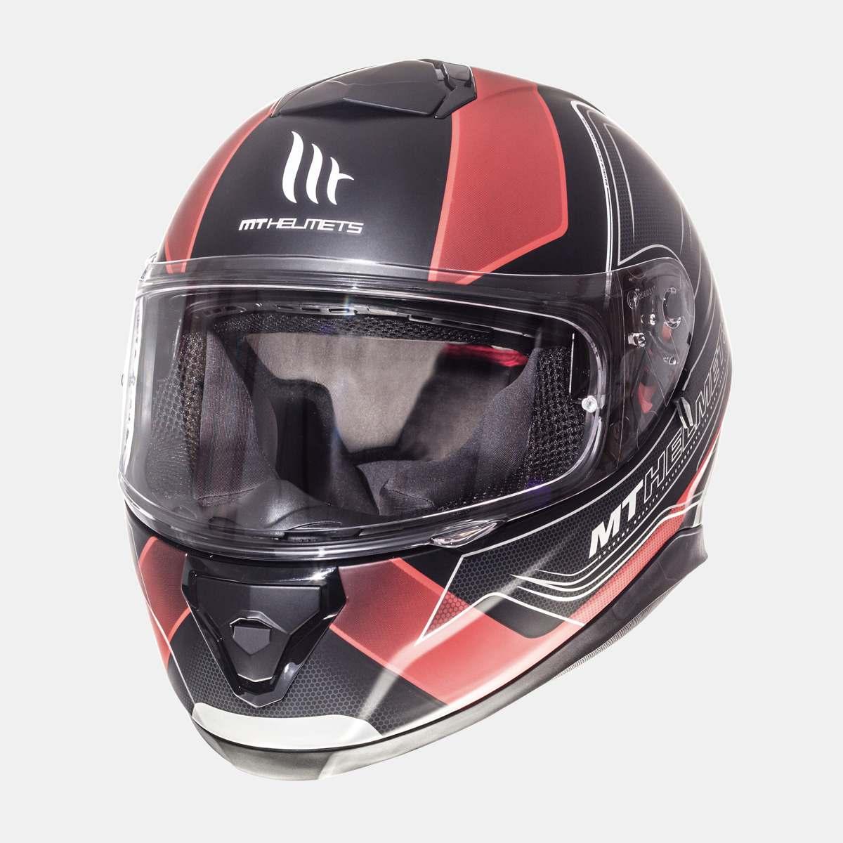 Integrální přilba na motorku MT Thunder 3 SV Trace černá matná-červená
