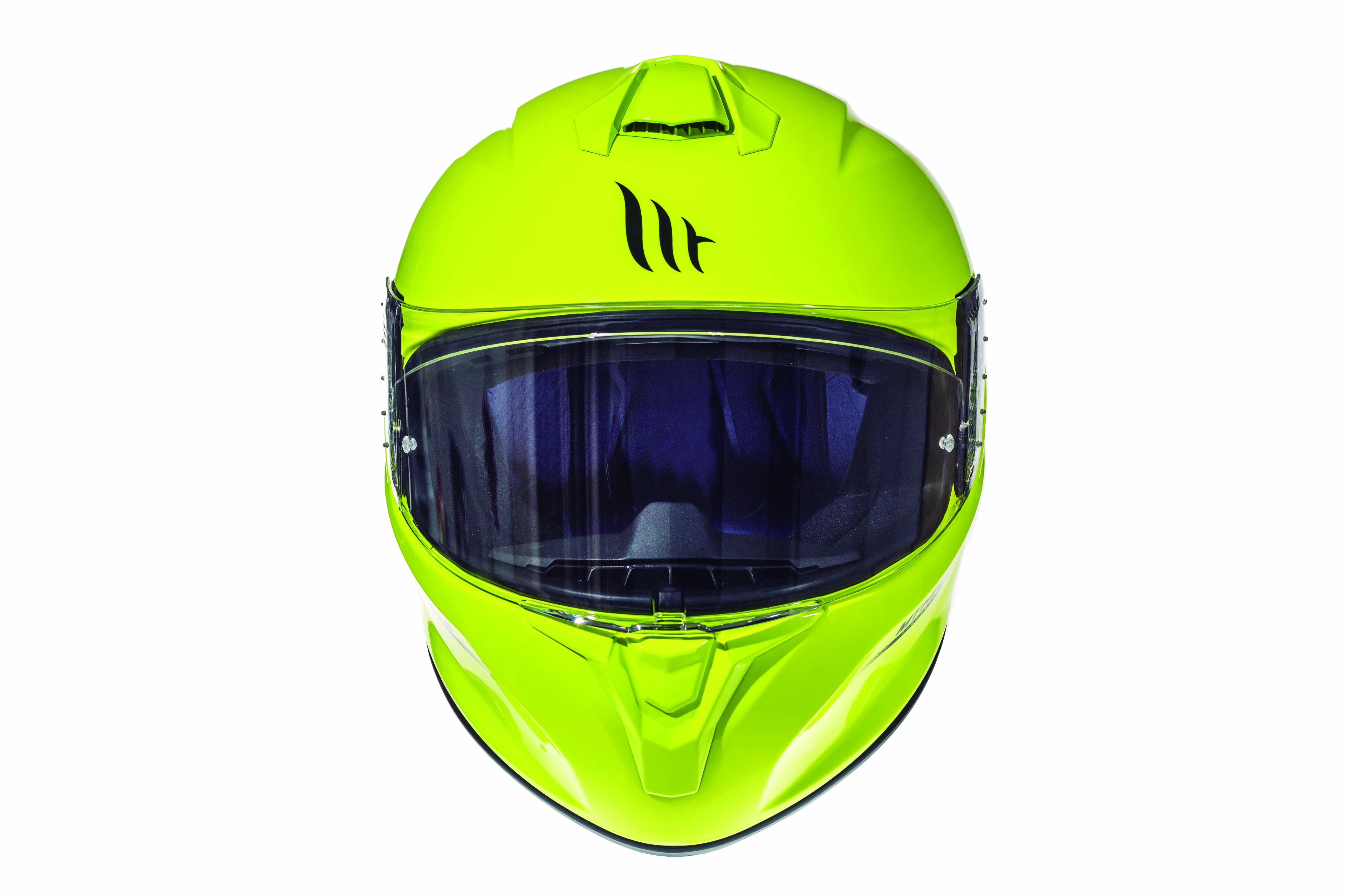 Integrální přilba na motorku MT Targo fluo žlutá