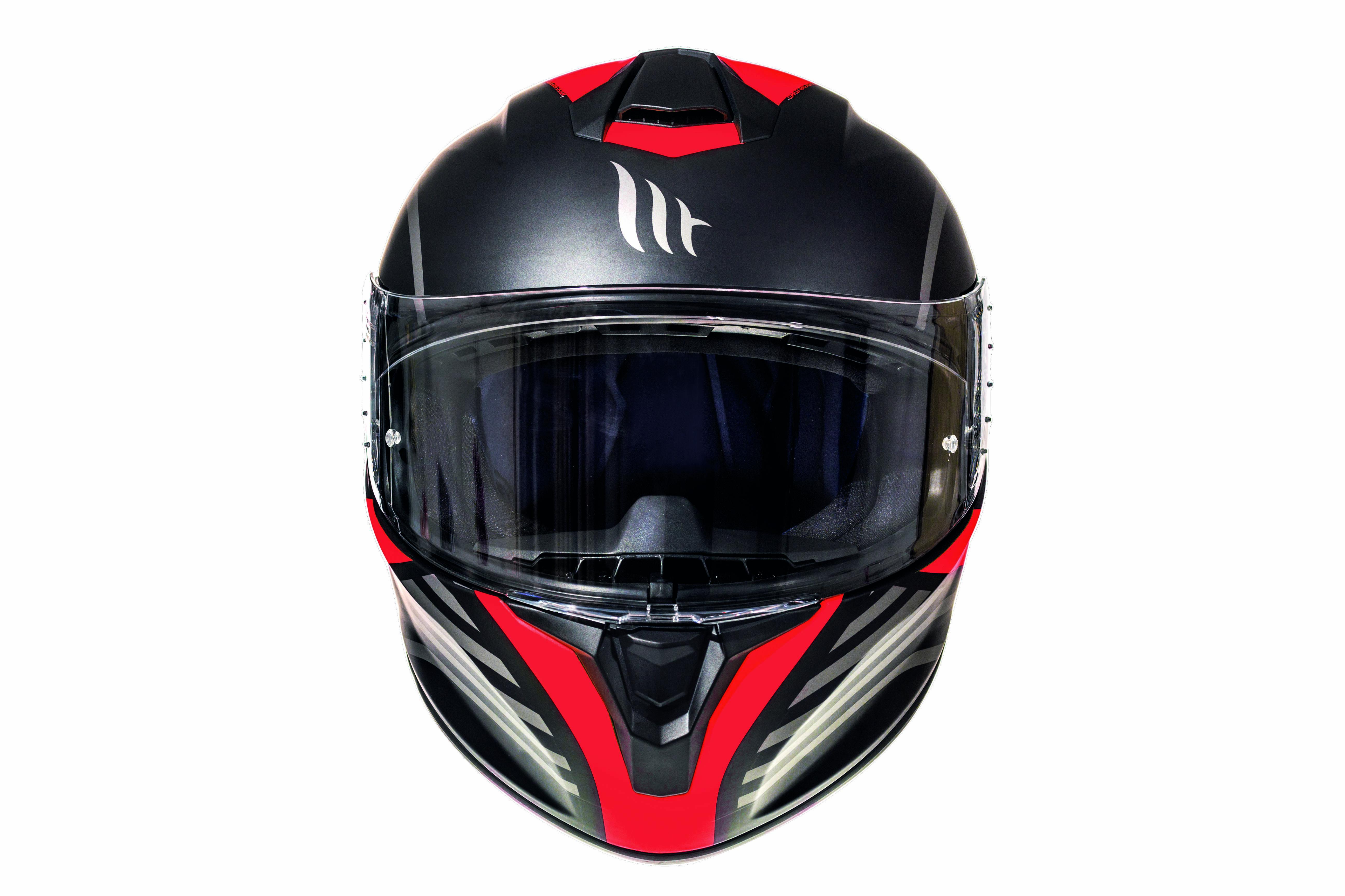 Integrální přilba na motorku MT Targo Doppler fluo červená matná