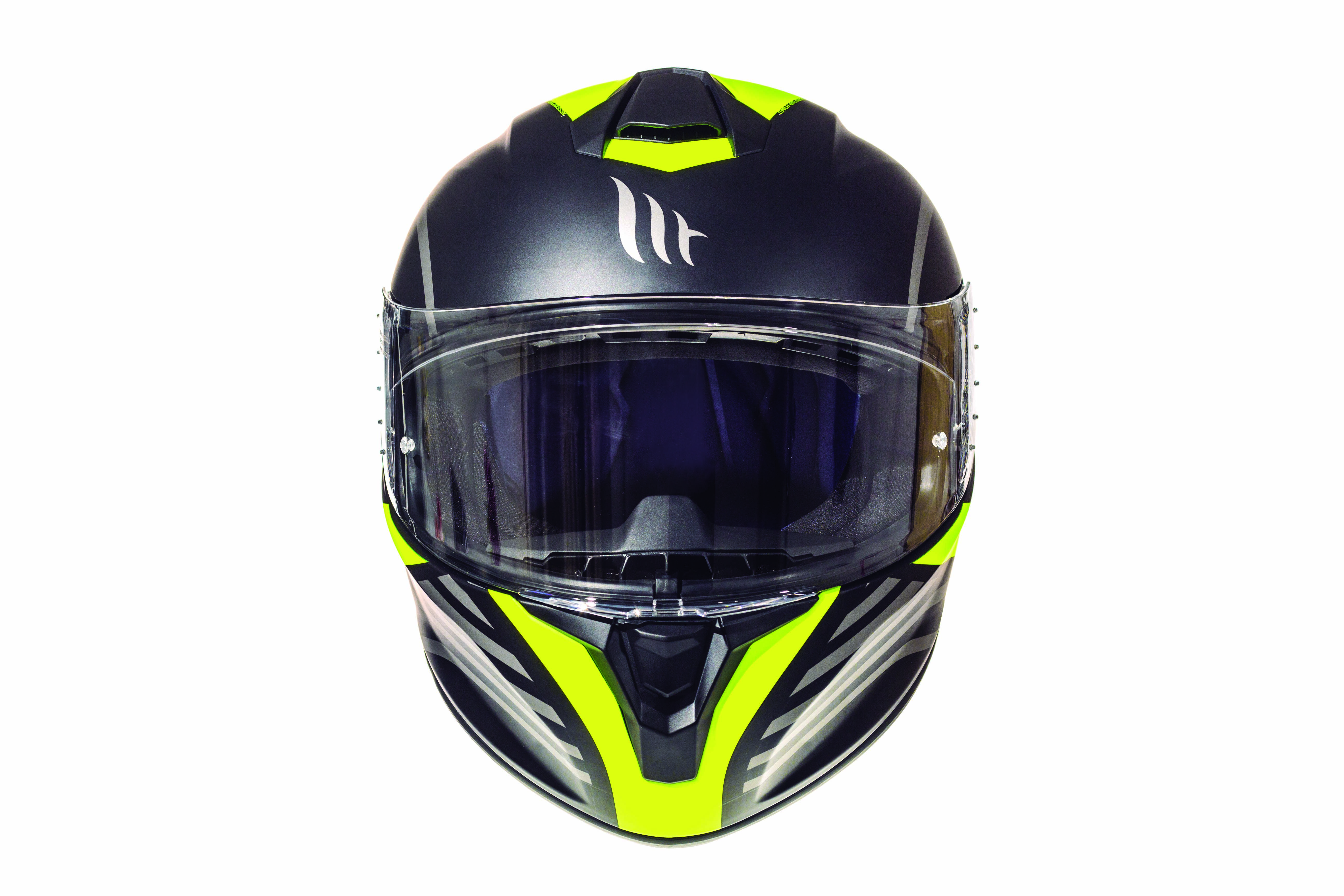Integrální přilba na motorku MT Targo Doppler fluo žlutá matná