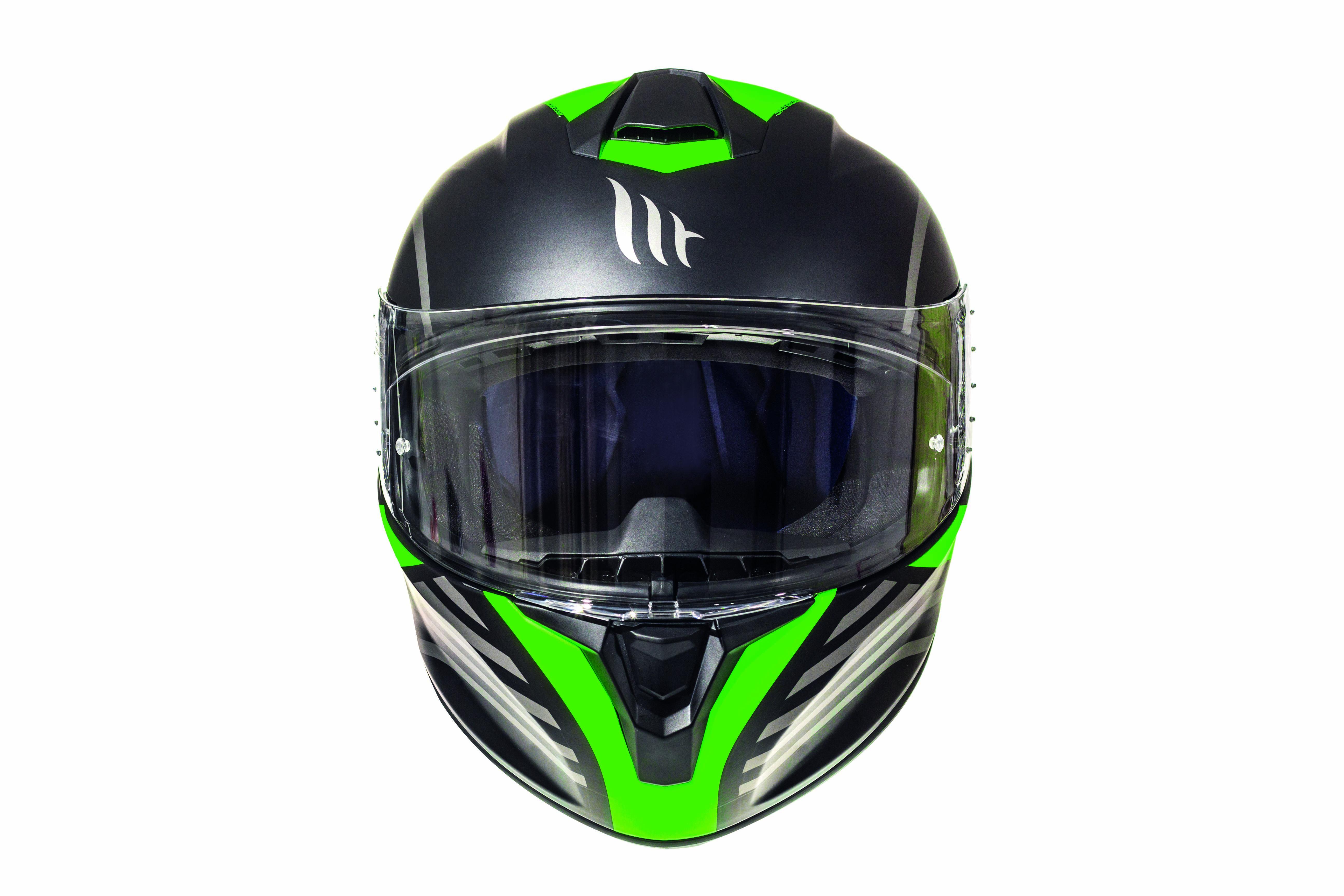 Integrální přilba na motorku MT Targo Doppler fluo zelená matná