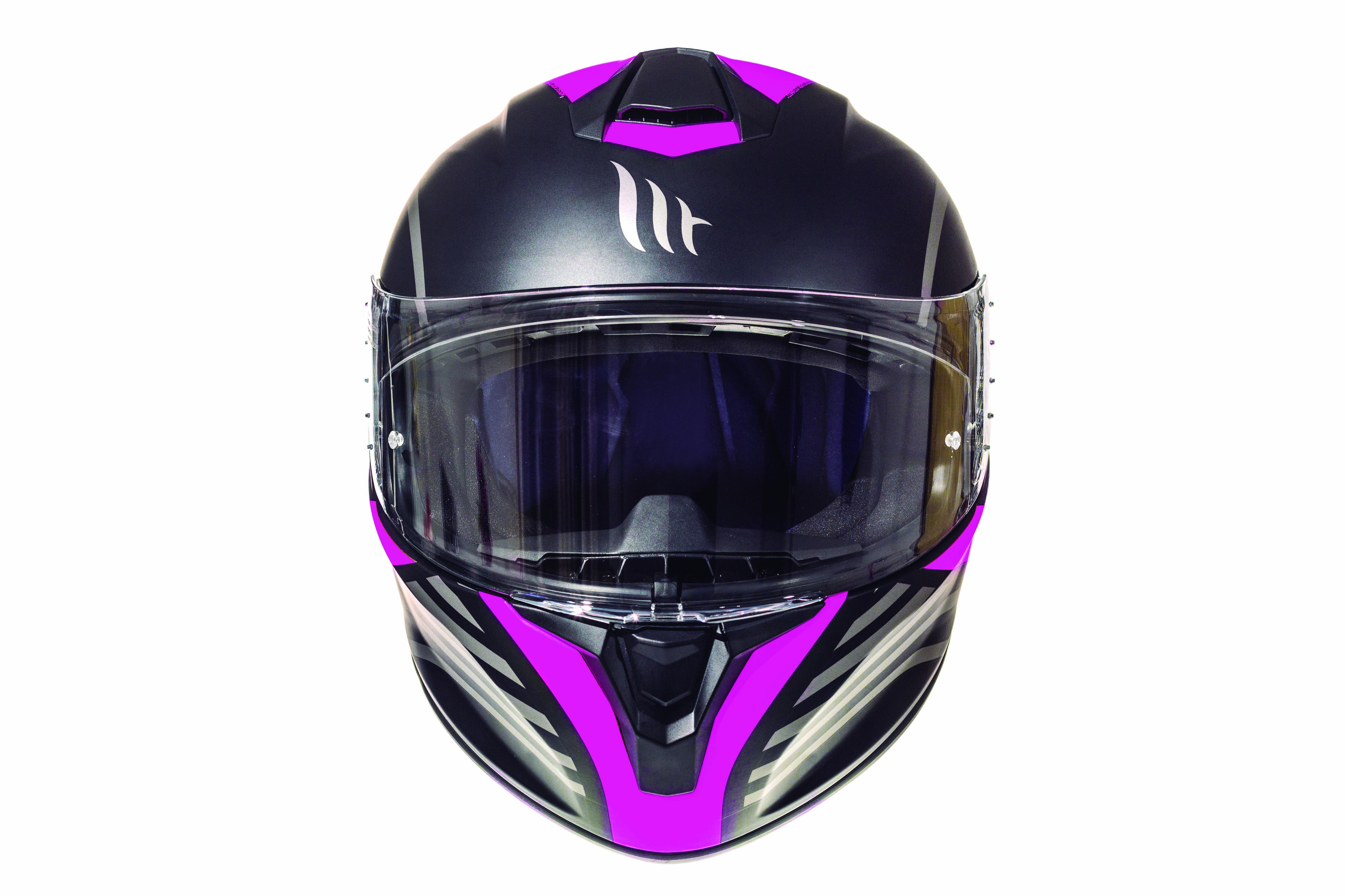 Integrální přilba na motorku MT Targo Doppler fluo růžová matná